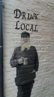 Brick, Old, Urban Road, Beer, Wall, City, Road