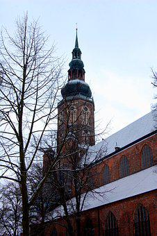 Architecture, City, Old, Brick, Tower, Church