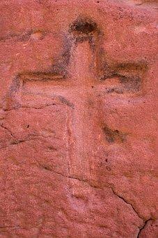 Religion, Red Stone, Cross