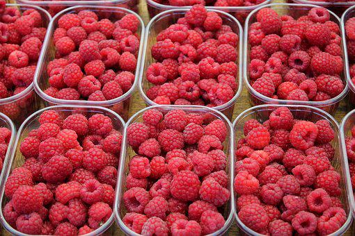 Raspberry, Fruit, Berry, Food, Dessert, Naschmarkt