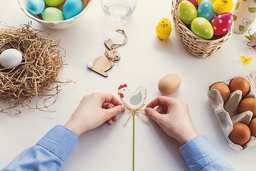 Easter, Egg, Food, Easter Egg, Nest, Celebration, Hand