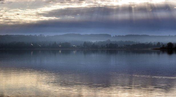 Lake, Water, Fog, Morning Mist, Morgenstimmung, Haze
