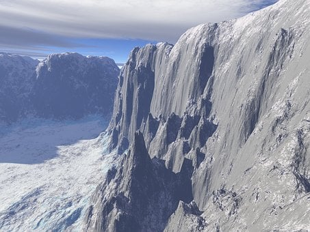 Rock Wall, Snow, Nature, Mountain, Ice, Glacier, Slope