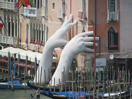 Gondola, Venetian, Channel, City, Road, Venice, Art