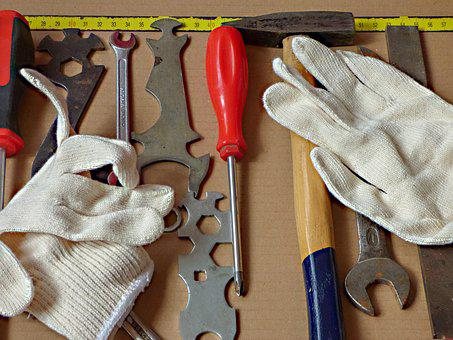 Glove, Equipment, Industry, Hammer, Hand Tools, Tool