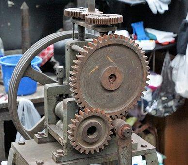 Motor, Gear, Machine, Industry, Machinery, Precision