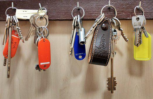 Block, Safety, Keys, Keychain, Key