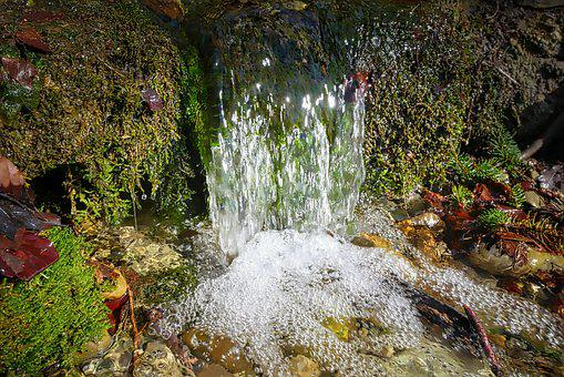 Nature, Waters, River, Waterfall, Leaf, Bach
