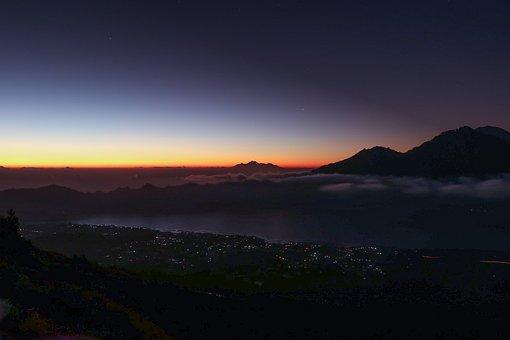 Sunset, Nature, Panoramic, Dawn, Sky, Mountain, Travel