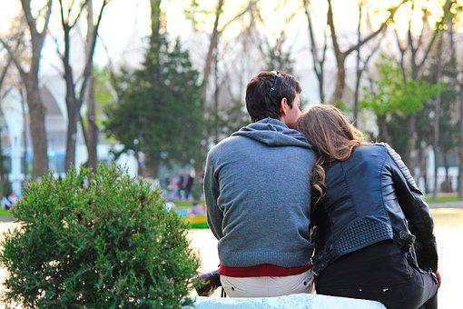 Outdoors, Park, Nature, Tree, People, Couple, Love
