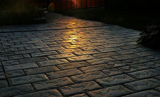 Pavement, Cobblestone, Brick, Old, Darkness, Stone
