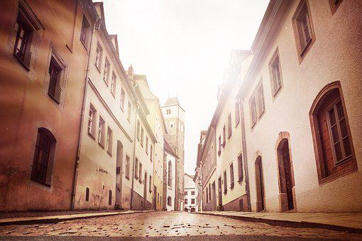 Freiberg, Silver, Alley, Road, Mountain Town
