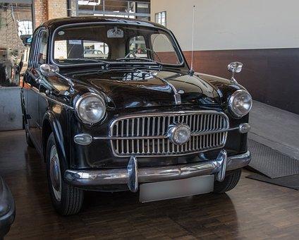 Auto, Fiat, Oldtimer, Vehicle, Spotlight, Classic