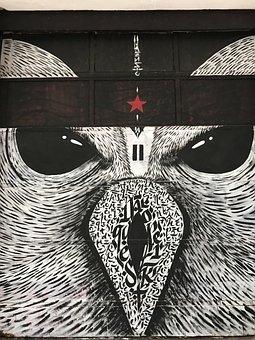 Street Art, Graffitti, Urban Art, Artists, Bird, Spray