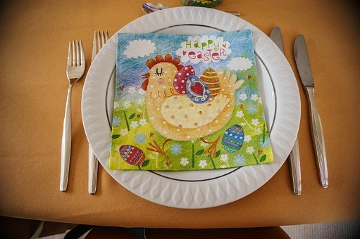 Fork, Cutlery, Table, Knife, Food, Eat, Easter