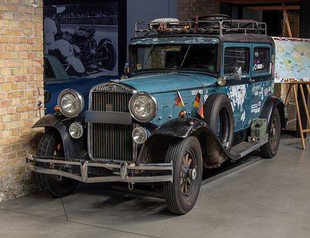 Auto, Hudson, V8, Oldtimer, Round-the-world