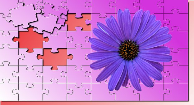 No Person, Wallpaper, Puzzle Flower, Violet