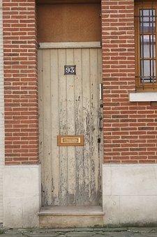 Door, Architecture, House, Brick, Wood, Front Door