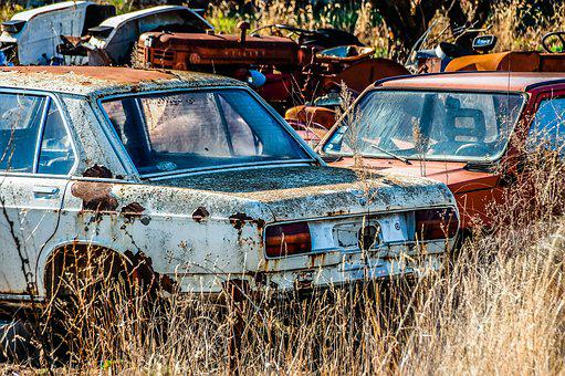 Automobile, Abandoned, Rusty, Transport, Wreck