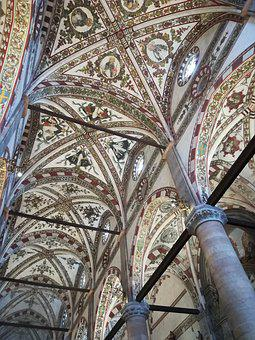 Architecture, Art, Religion, Cathedral, Ceiling, Inside