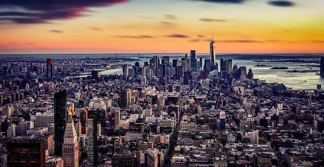 New York, Skyline, Architecture, Nyc, Manhattan, Us