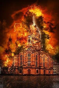 Germany, Saxony, Dresden, Frauenkirche, Architecture