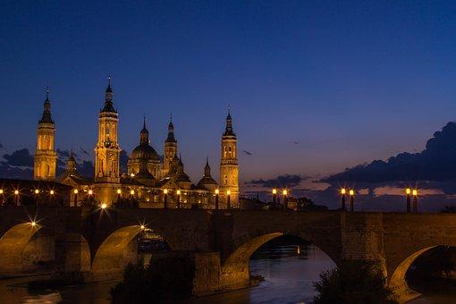 Architecture, Travel, City, Illuminated, Sky, Tower
