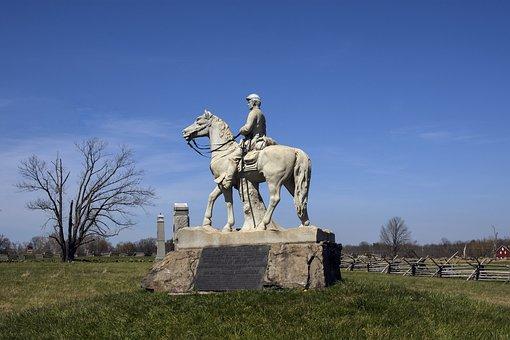 Sky, Outdoors, Travel, Statue, Monument, Civil War