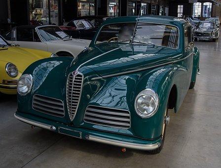 Auto, Alfa Romeo, Oldtimer, Classic, Grille, Vehicle