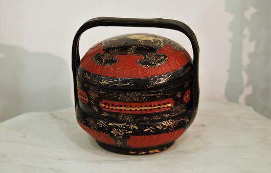 Container, Traditional, Handicraft, Color, Chinese, Old