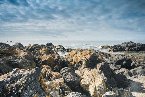 Nature, Rock, Mar, Costa, Landscape, Sky, Beach