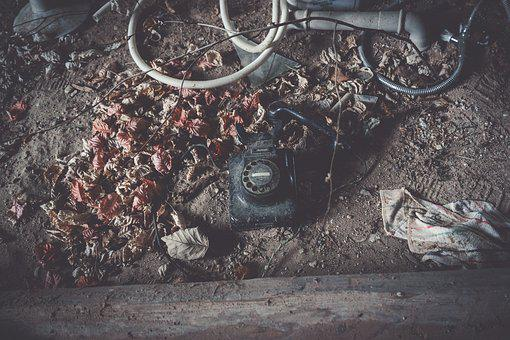 Dirty, Nature, Old, Scrap, Telephone, Lost Place