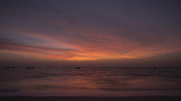 Sunset, Dusk, Evening, Sun, Dawn, Sky, Nature, Outdoors