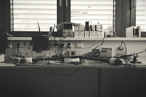 Human, Furniture, Desk, Black And White Photography