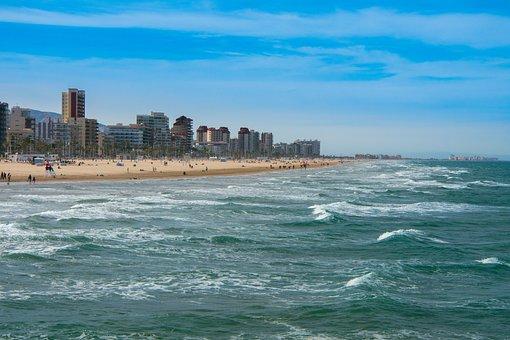 Sea, Body Of Water, Travel, Costa, Sky, Beach, Gandia