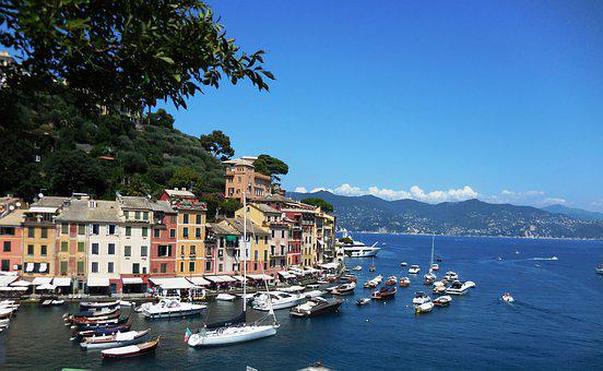 Portofino, Italy, Italian Riviera, Sea, Water, Town