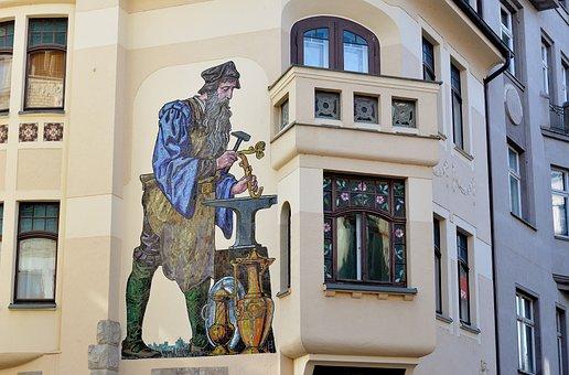Architecture, Mosaic, Craft, Greiz