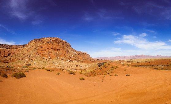 Desert, Dry, Landscape, Arid, Sand, Panoramic, Nature