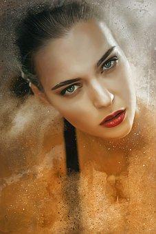 Woman, Portrait, Girl, Face, Female, Young, Makeup