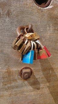 Lock, Padlock, Closeup, Rusty, Steel