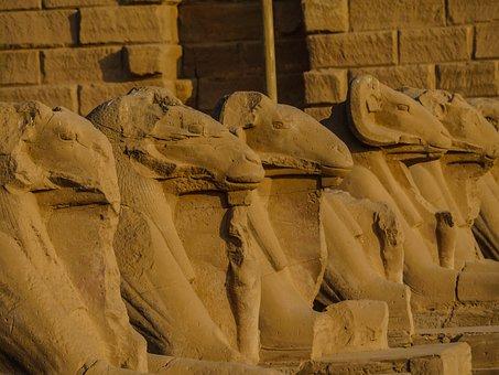 Aries, Temple, Karnak, Sculpture, Antiquity, Statue