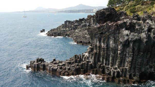 Cliffs, Sea, Side, Nature, Roche, Volcanic