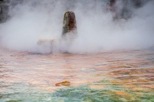 Waters, Smoke, Geyser, Thermal Spring, Steam