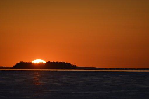 Sunset, Dawn, Body Of Water, Sun, No Person, Varamon
