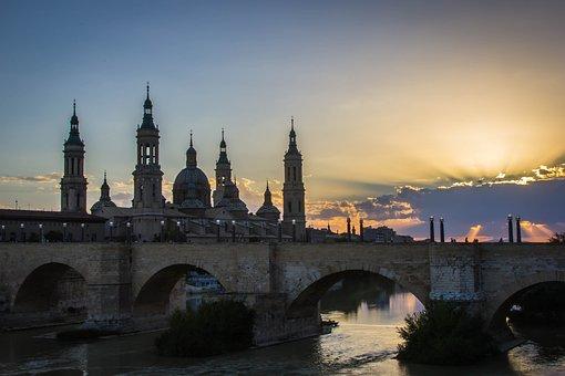 Architecture, City, Travel, River, Bridge, Building