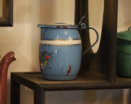 Container, Pottery, Pot, Jug, Kitchenware, Vintage, Tea