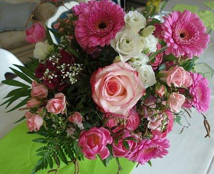 Bouquet, Rose, Flower, Wedding, Floral, Give, Plant
