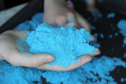 Kinetic Sand, Hand, Boy, Ease, Sand, Wet, Motor Skills