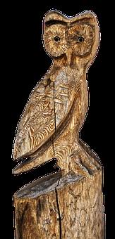 Owl, Sculpture, Holzfigur, Wood Owl, Wood Carving
