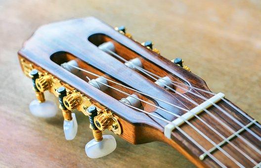 Guitar, Strings, Wood, Music Instrument, Set, Music